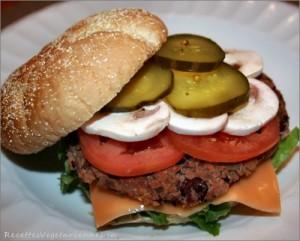 Hamburger aux champignons de Joel Legendre
