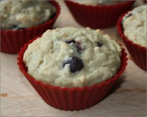 Muffins aux bleuets et aux poires